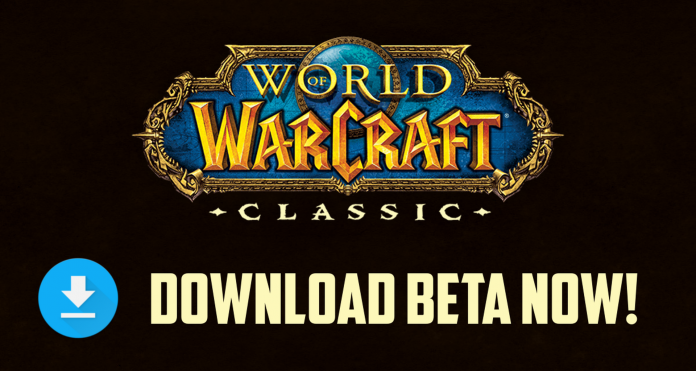 Classic WoW Beta is announced
