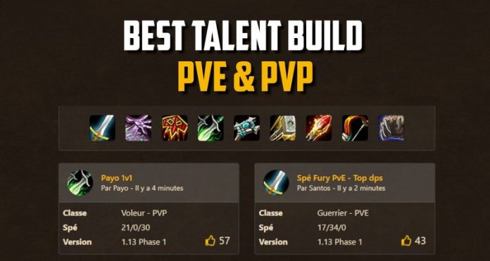 Best Builds for each classes (PvE / PvP / Leveling / Fun)