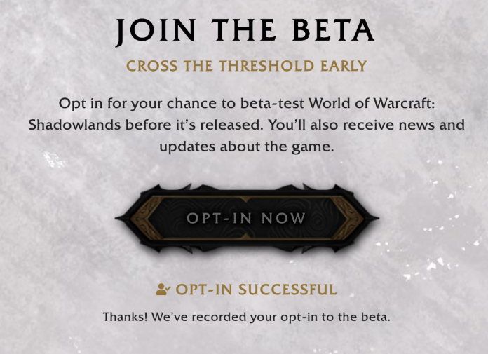 How to Sign Up for the WoW Shadowlands Beta