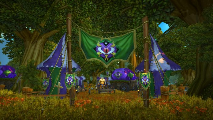 WoW Classic Darkmoon Faire in Elwynn Forest for March 2020