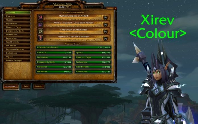 Player Earns Every Single World of Warcraft Achievement in Battle for Azeroth