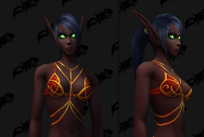 Possible Blood Elf Female Customization Option - Body Jewelry