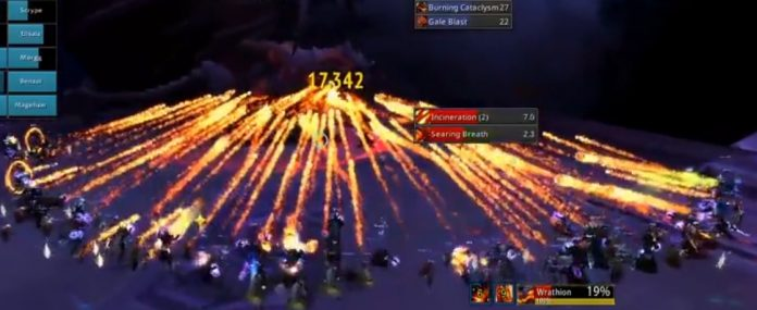Heroic Ny'alotha Full Clear with 29 Fire Mages