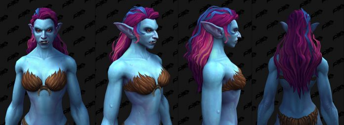 New Troll Female Customization Options from Shadowlands Build 34902 - Hairstyles, Earrings