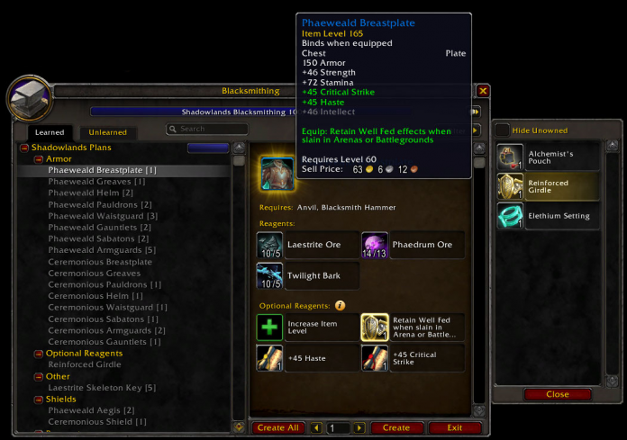 Wowhead Economy Weekly Wrap-Up 131   Shadowlands Prep & Professions