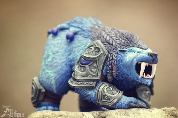 Guardian Druid Bear Form and Worgen Figurines by Panterius Workshop