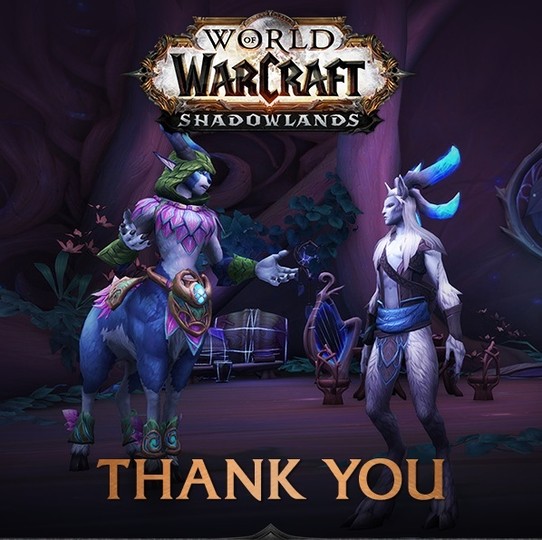 Thank You for Testing Shadowlands Alpha Achievements and Infographics