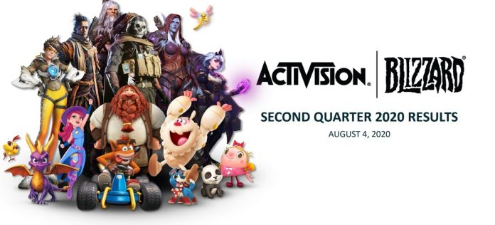 Activision Blizzard Second Quarter 2020 Financial Results Exceed Expectations
