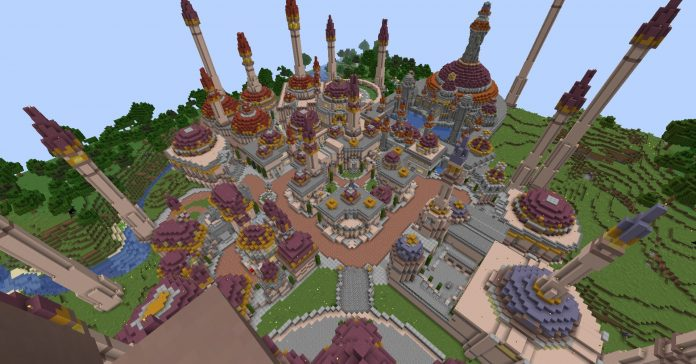 Dalaran Recreated in Minecraft Survival
