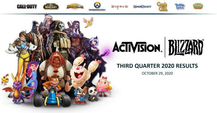Activision Blizzard Third Quarter 2020 Financial Results - Ahead of Expectations