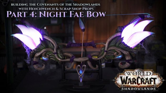 Shadowlands Night Fae Bow Recreated by Hench and Scrap Foundry