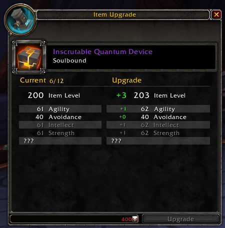 Valor Points Costs to Upgrade Mythic+ Gear in Shadowlands Patch 9.0.5