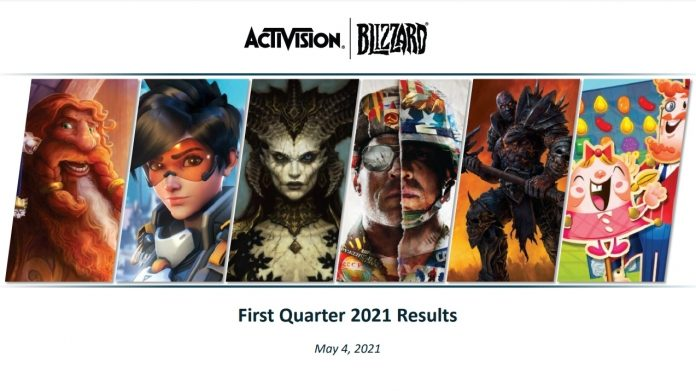 Activision Blizzard First Quarter 2021 Financial Results - Intent to Hire 2000+ Developers Over Next Two Years