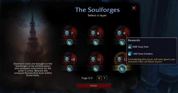 Soul Cinders on Patch 9.1 PTR - Drop Amounts in Torghast and Maw, Costs to Upgrade Legendaries